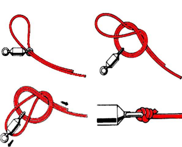 каким узлом привязать воблер к плетенке