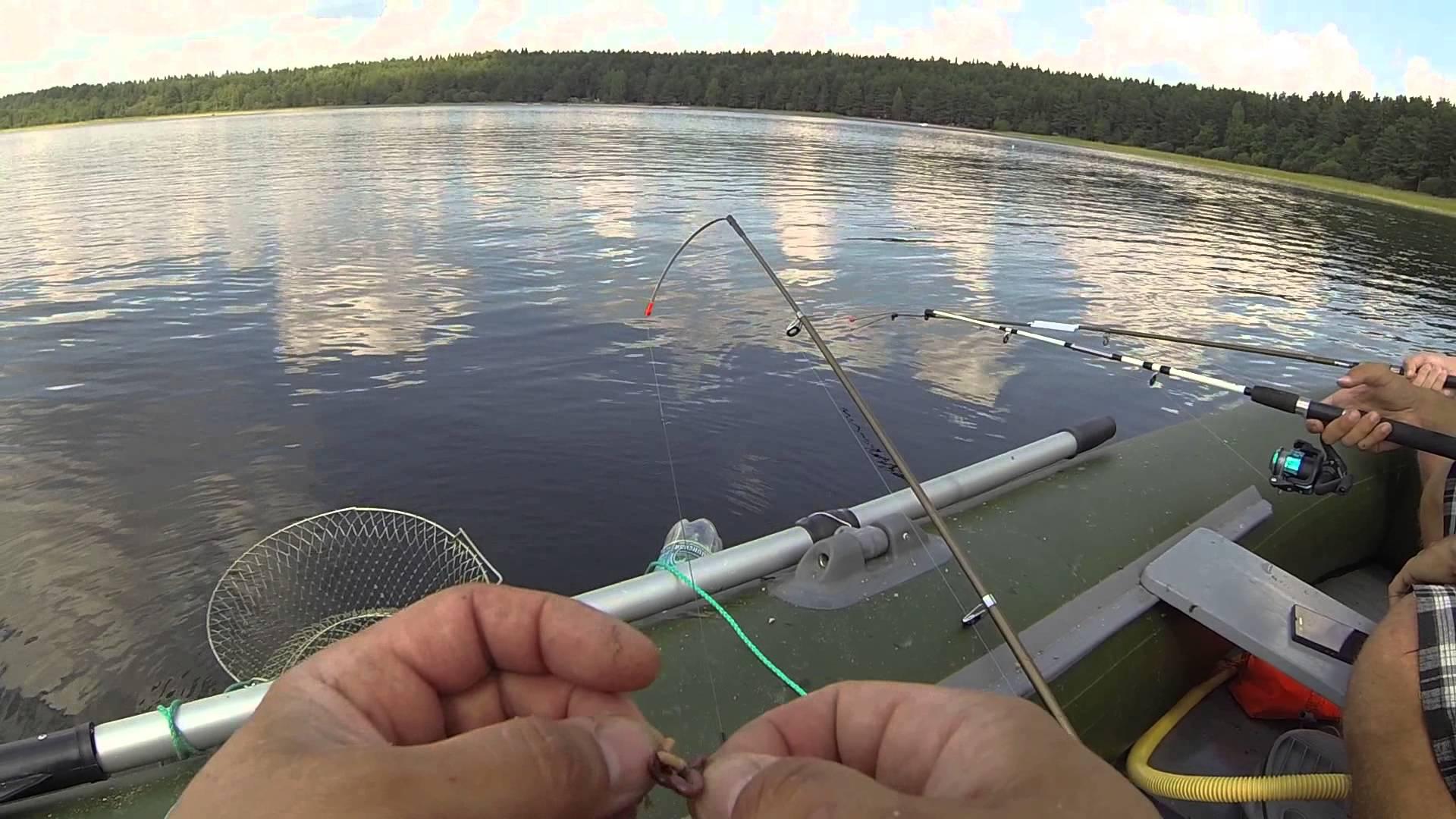 видео рыбалка с лодки ловля леща