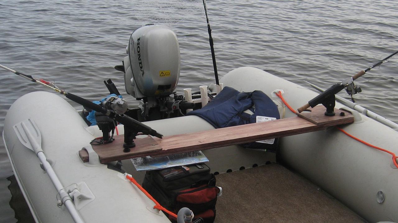 Лодка пвх держатель спиннинга своими руками видео
