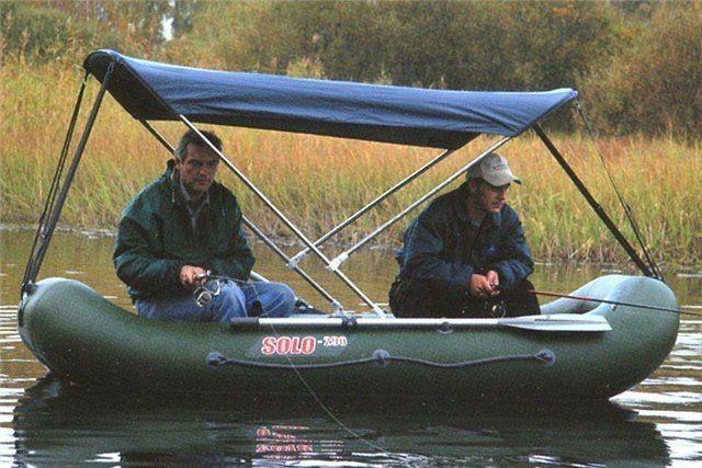 как оборудовать резиновую лодку для рыбалки