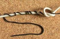 Связываем леску с плетенкой